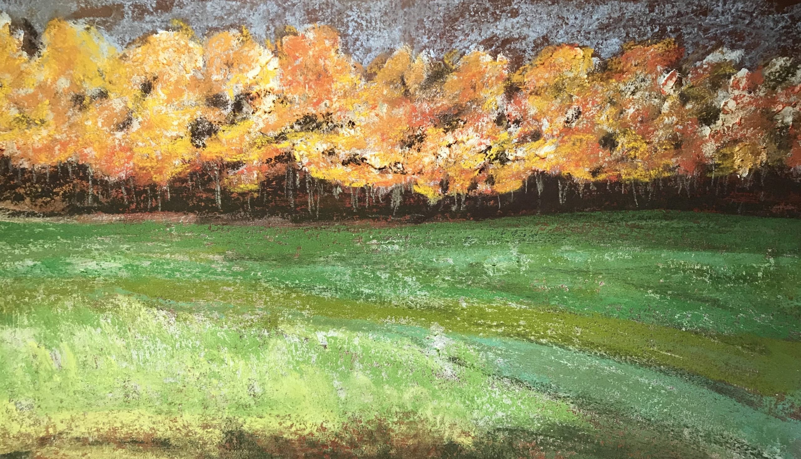 Barbara-Lee-Shakal-Fall-Breeze-Pastel-Acrylic