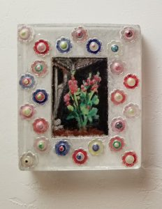 Chelsea-Littman_Holy-Hollyhocks-of-Late-July_Cast-glass-enamel