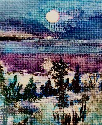 """""""Moon Energy""""<br> Acrylic <br>8""""x10"""""""