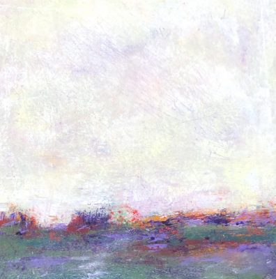 """Across the Field I""<br>Oil Cold Wax<br> 10""x10"""
