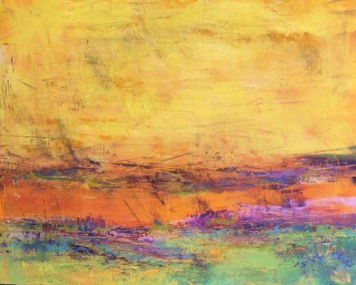 """Bright Skies I""<br>Oil Cold Wax<br> 16""x20"""