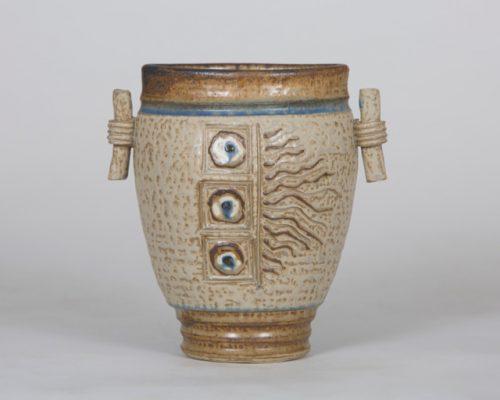 """Handled Vase""<br>  Stoneware Clay<br> 9""x8"""
