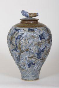 "Linda Sheard ""Painted Urn"" Stoneware Clay"