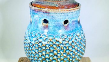 "Liz Butler ""Garlic Keeper"" Ceramics"
