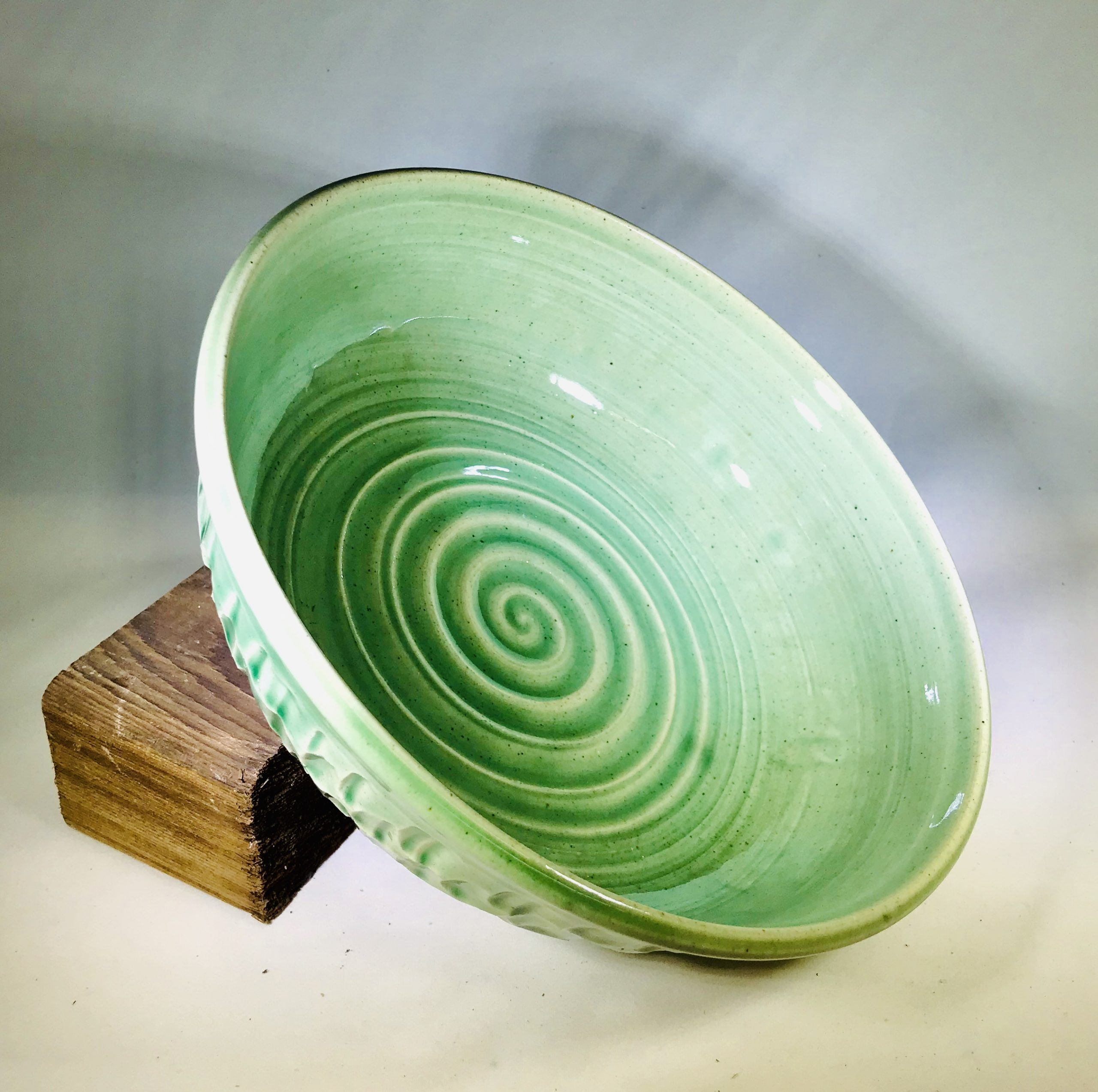 "Liz Butler ""Green Bowl"" Ceramics"