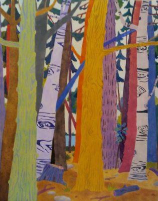 """""""Forest Chorus II""""<br> Acrylic<br> 20""""x16"""""""