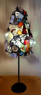 """""""Table Lamp"""" <br>Thin Metal Found Objects<br> 25""""x10""""x10"""""""
