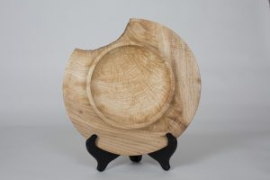 "Michael Doerr Woodworking ""Turned Wooden Platter"" Ash Wood 2""x11"""