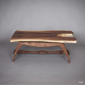 "Michael Doerr Woodworking ""Wilson Table"" Black Walnut Wood, Coffee Table 44""x28x16"""