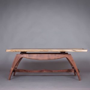 "Michael Doerr Woodworking ""Wilson Table"" (Profile) Black Walnut Wood 44""x28""x16"""