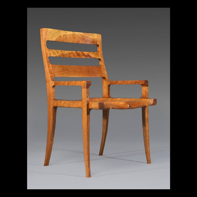 "Michael Doerr WoodworkingHigh-back ""St. Louis Chair"" Cherry wood"