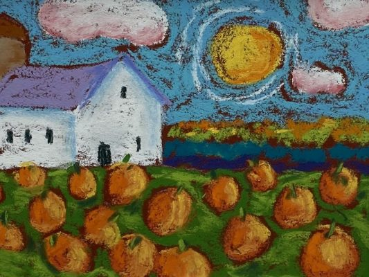 """Pumkin Patch""<br> Pastel <br>11""x14"""