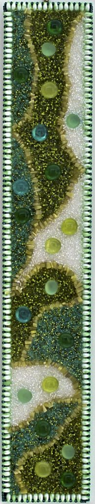 Stella-Rogers-Green-Abstract-Bead-Painting