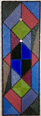 "Middle College Series No. 1""<br> Bead Painting<br> 36""x12"""