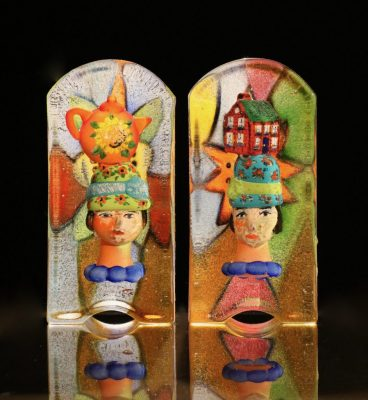 """On My Mind Series""  <br>Cast Glass <br>12""x5-1/2""x4-1/2"""