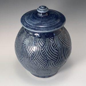 "Jeanne Demers ""Denim Jar"" Ceramics"