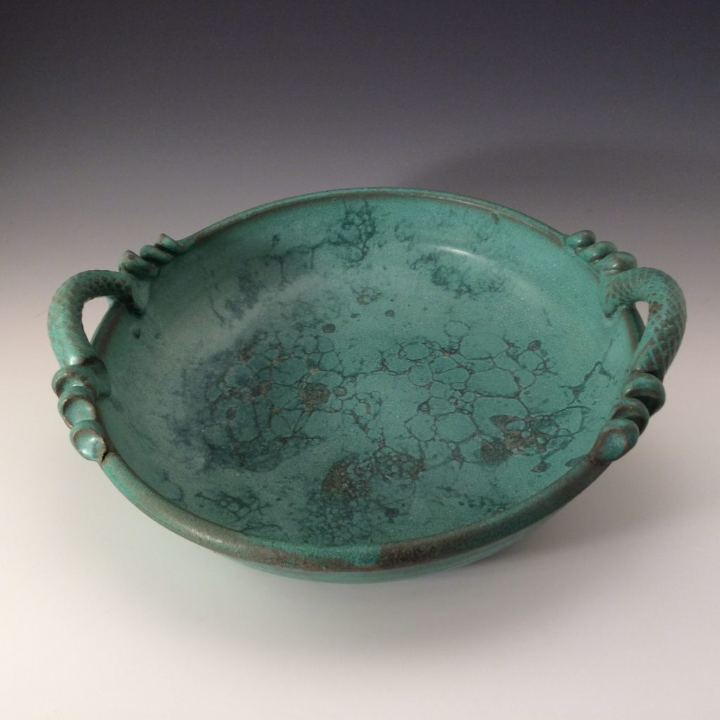 "Jeanne Demers ""Weathered Bronze Serving Dish"" Ceramics"