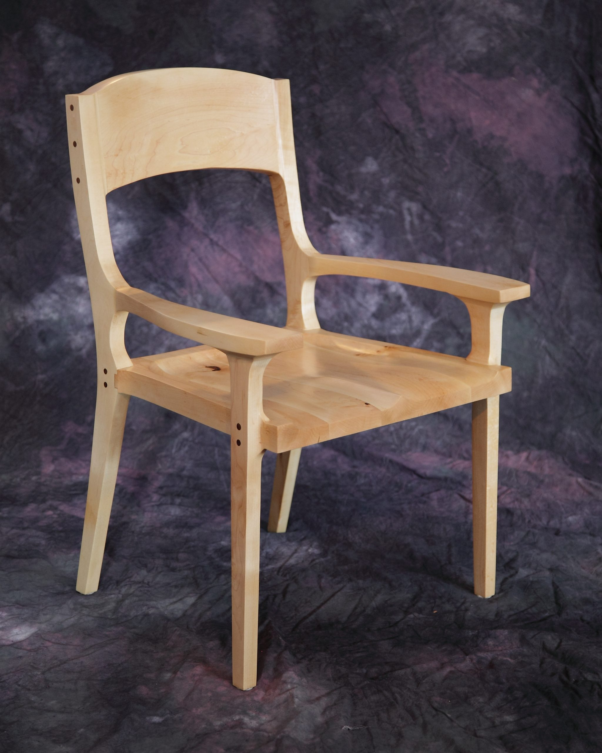 Wood Dining Chair with Arm