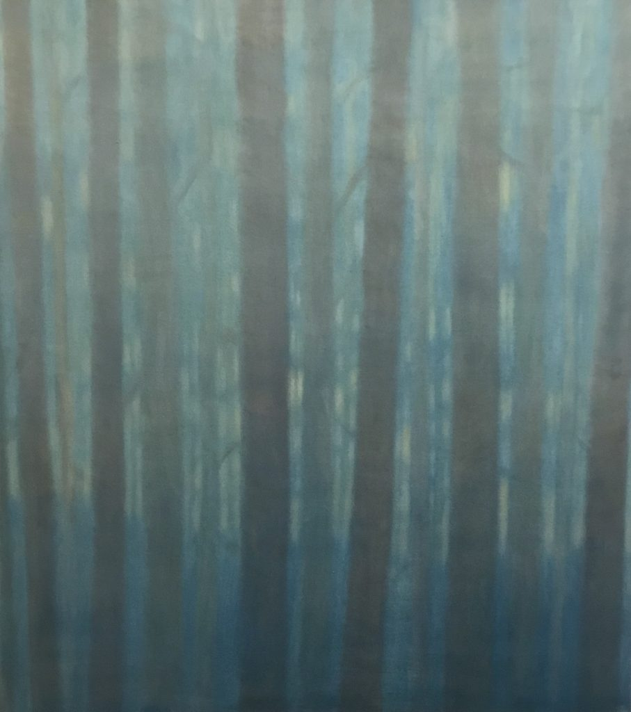 Margaret Lockwood-Dusk Woods-oil on canvas 36x32x1 1/2