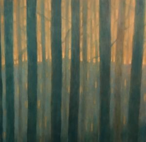 Margaret Lockwood-Evening Woods-oil on canvas 42x44x1 1/2