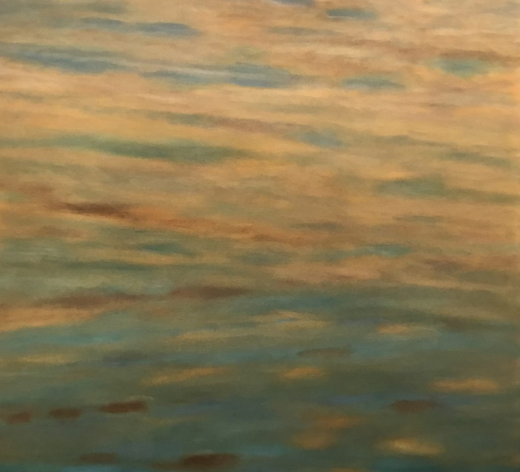 Margaret Lockwood-Reflections-oil on canvas 40x44x1 1/2