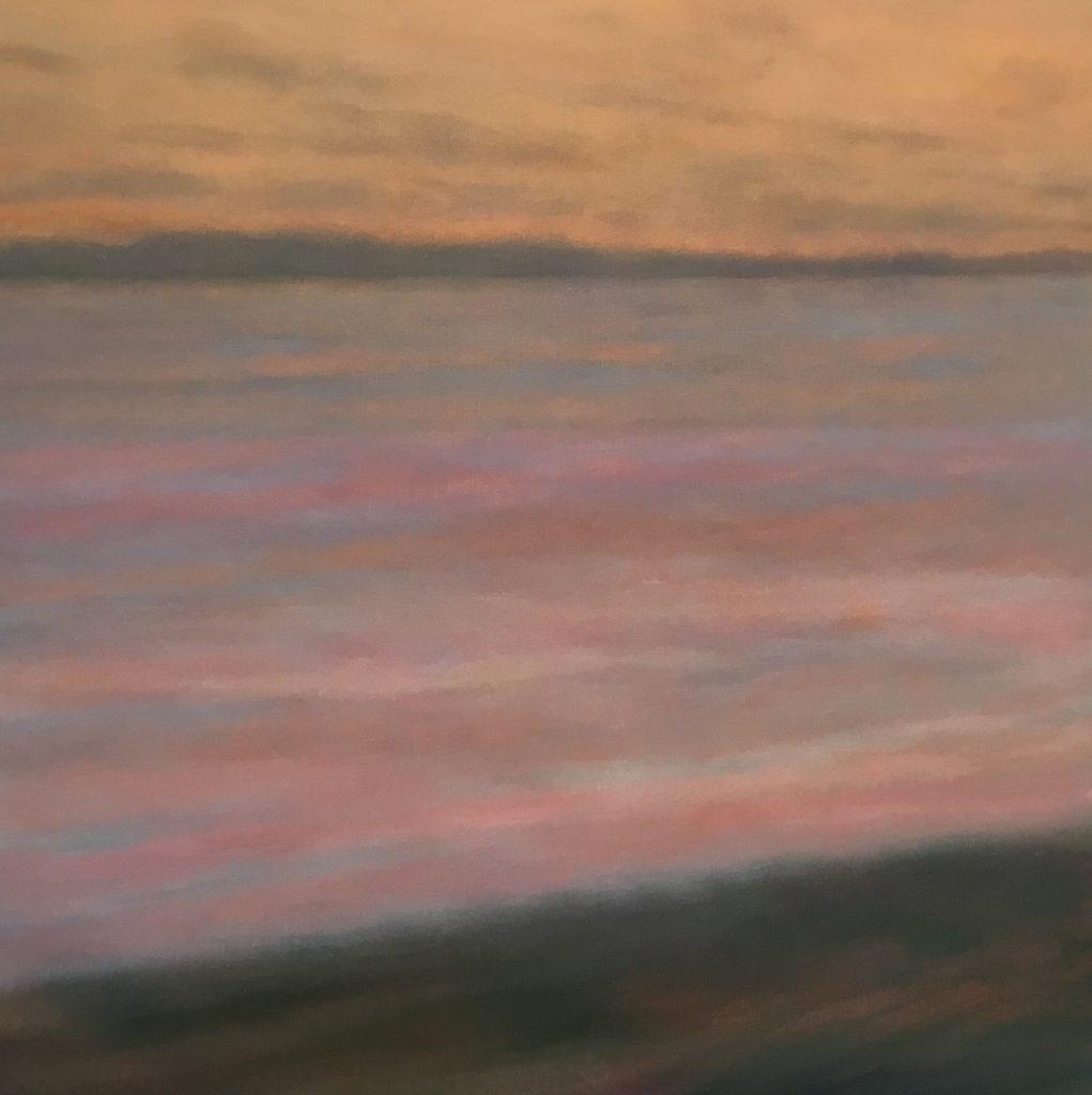 Margaret Lockwood-Sunset Shore-oil on canvas 36x36x1-1/2