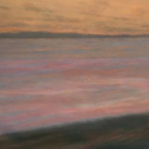 Margaret Lockwood-Sunset Shore-oil on canvas 36x36x1-1/2