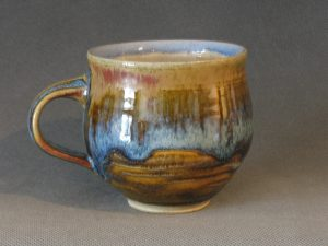 Prisca Benson-Fittshur Mug - Layered Wood Ash and Iron Glazes