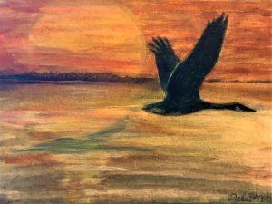 Deb Stroh-Larson-Migration-Acrylic-12x9