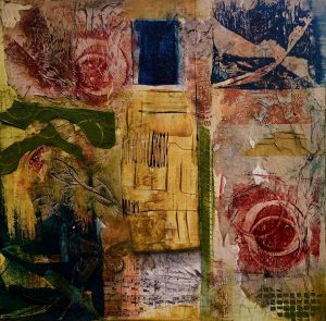 "Claudia Scimeca ""Roses"" Mixed Media 20x20"