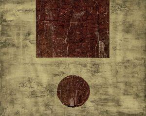 "Dale Vanden Houten ""Dual Integrity I"" Collagraph 16 X 20"