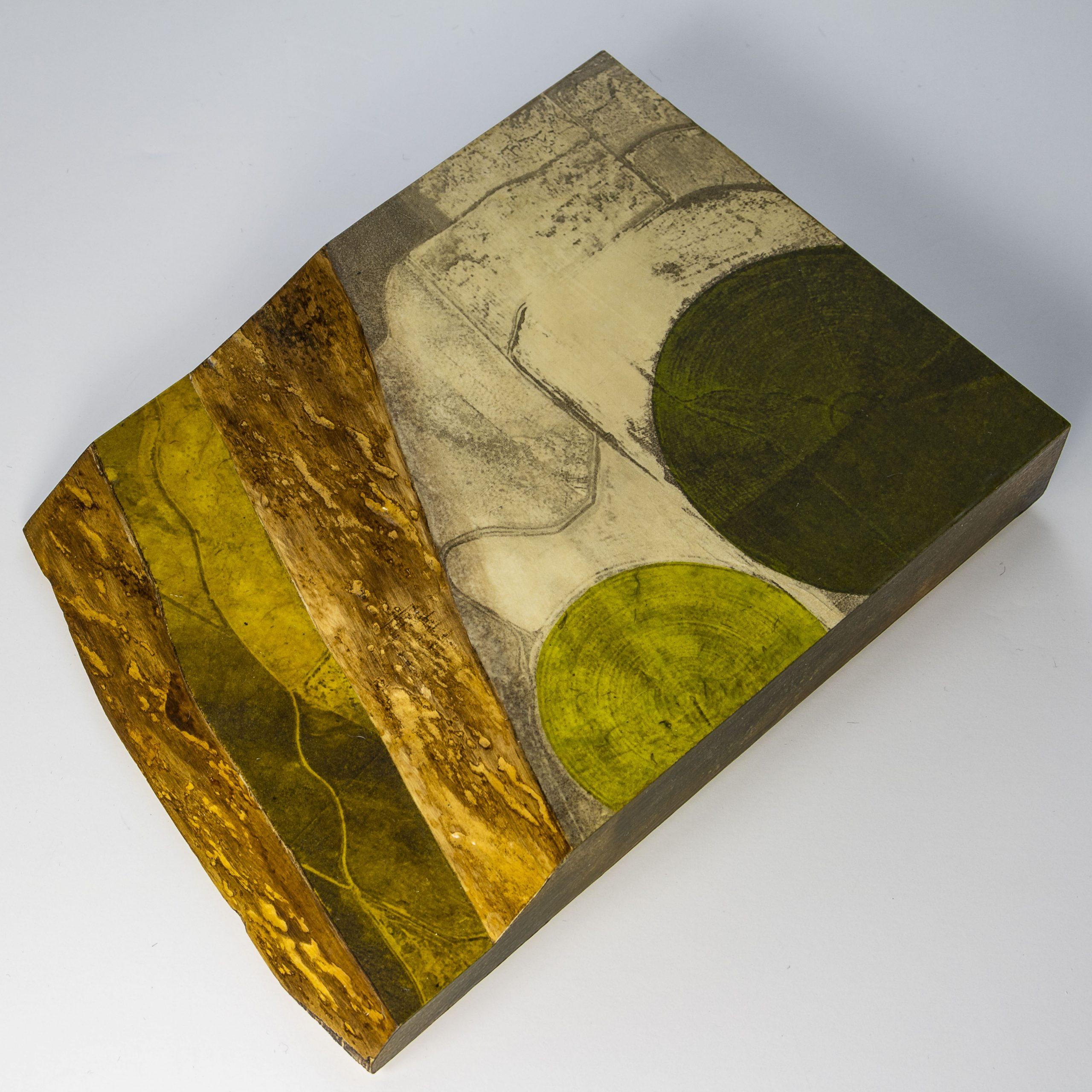 """Dale Vanden Houten """"Land Forms Series Kansas4"""" Intaglio 8 X 6 X 2"""