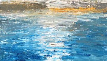 "Deb Stroh-Larson ""Shore Wave"" Acrylic 8x10"