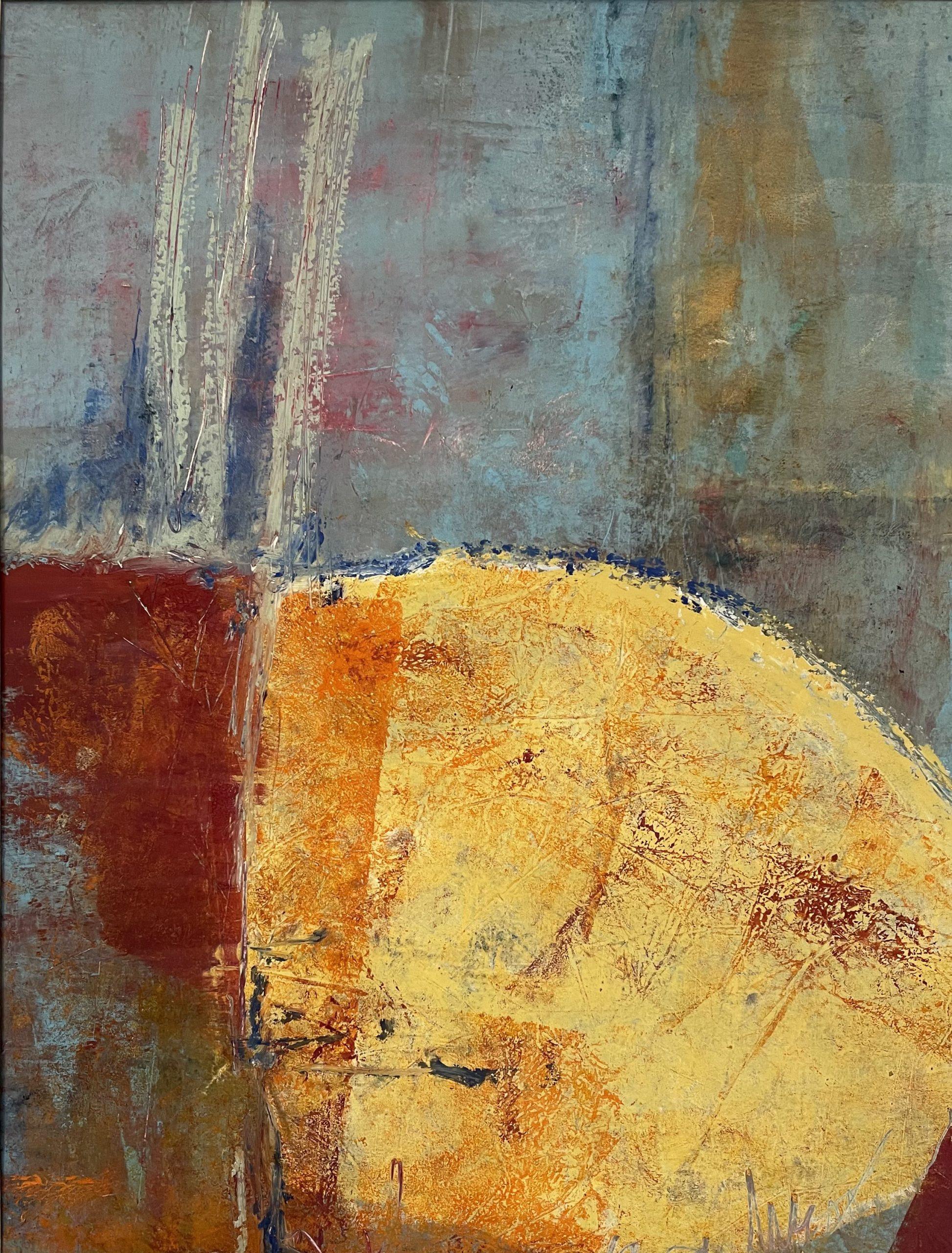 "Julia Redwine ""Junction"" Oil & Cold Wax 22x18"