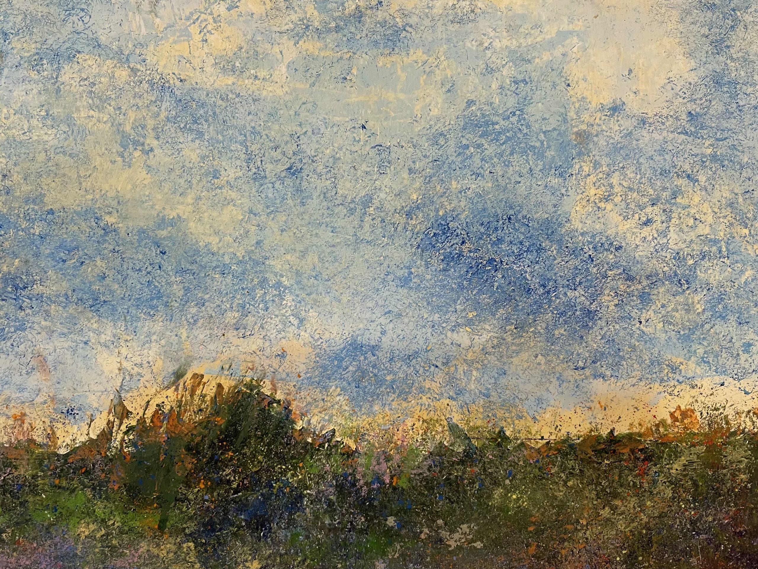 """Julia Redwine """"Summer Field"""" Oil & Cold Wax 16x20"""