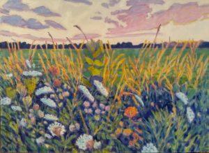 Lynn Gilchrist-Dusk Comes Sideways-oil-30x22
