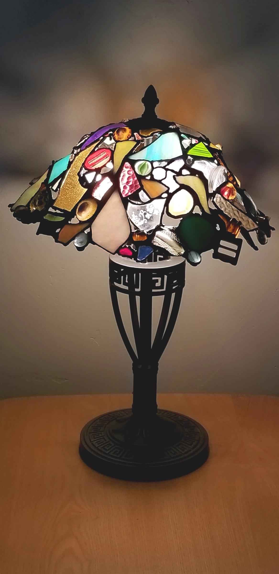 Melissa Resch Art Deco Lamp Mixed 20x14x14