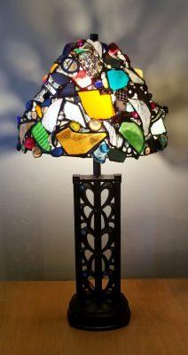 """Metal Heart Lamp"" Mixed 31x16x16"