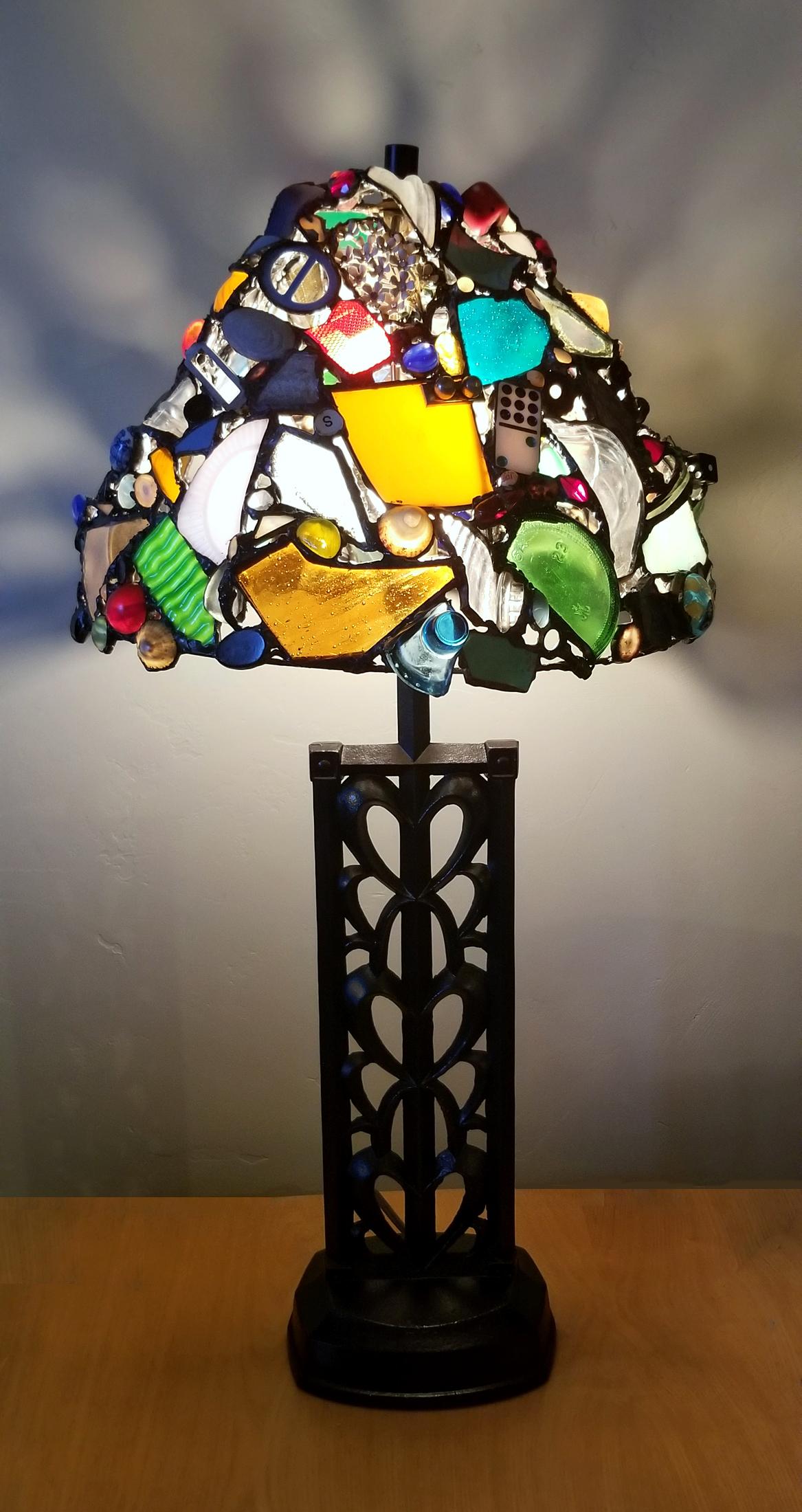 """Melissa Resch """"Metal Heart Lamp"""" Mixed 31x16x16"""